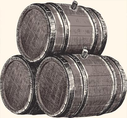Pott Rum Fässer
